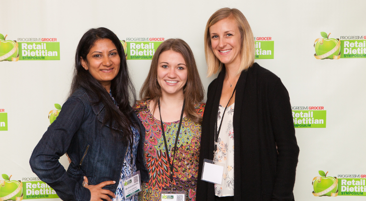 RD attendees from left: Min Krishnamurthy and Marissa Donovan of Giant Foods, Amanda Barnes of Whole Foods