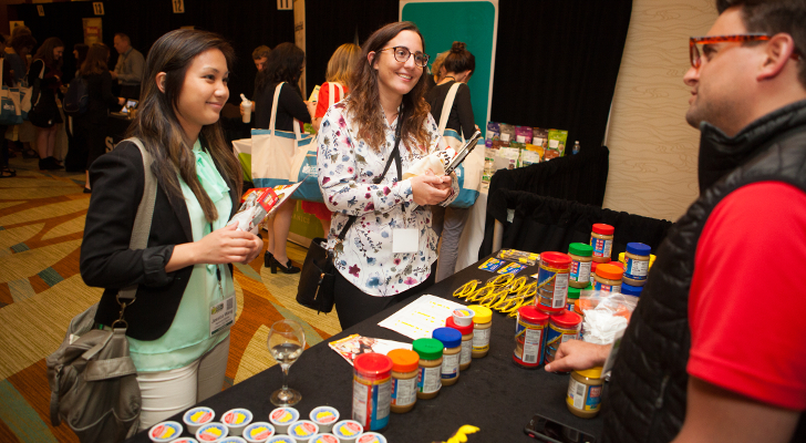 RDs Jessica Wang (left) and Alessandra Barba of Loblaw (center) with SunButter's Shane Hofer