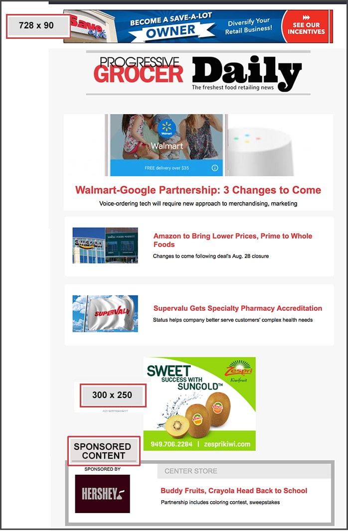 Newsletter ads