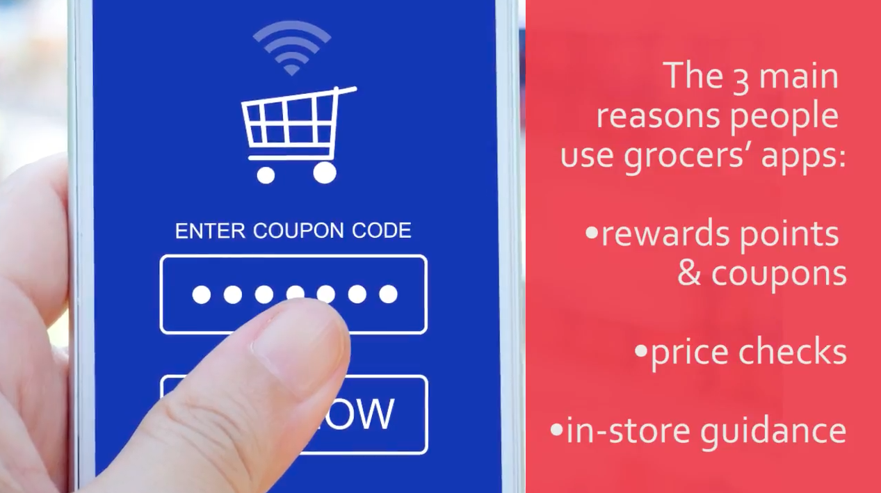 grocery store app data