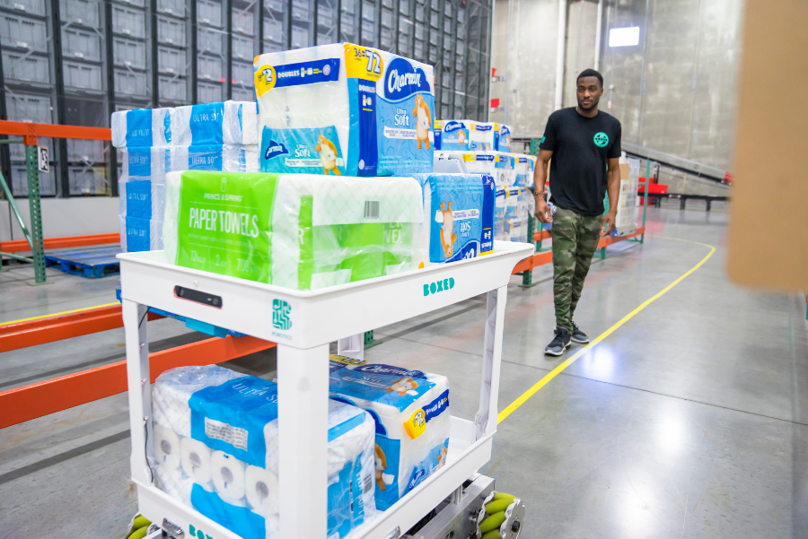 Boxed Improves Dallas Fulfillment Center Efficiency with Home-Brew System