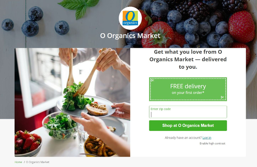 New Albertsons Virtual Store Leverages Iconic Private Label O Organics Market