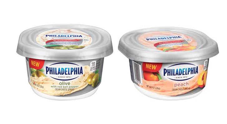 Philadelphia Cream Cheese New Flavored Spreads Olive And