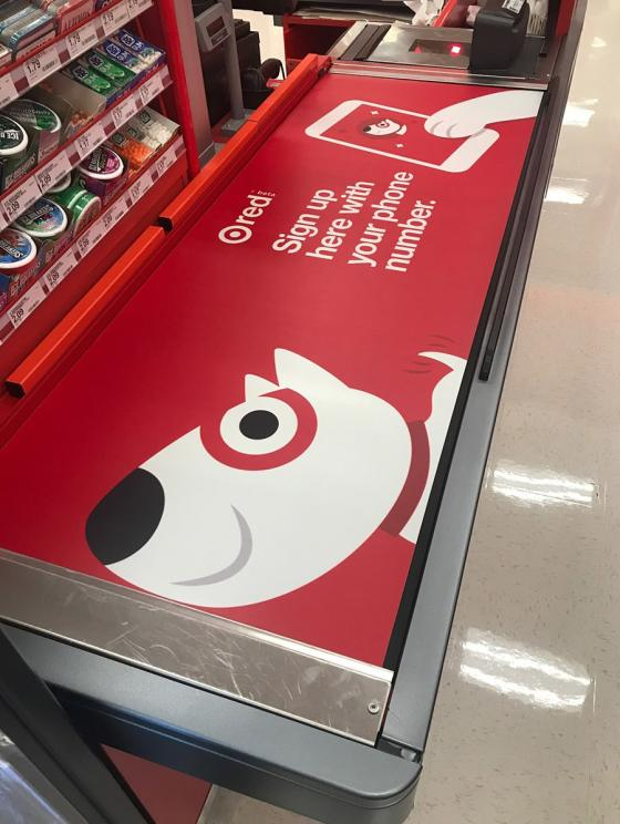 Target Installs Conveyor Belt Advertising at 1,000th Store