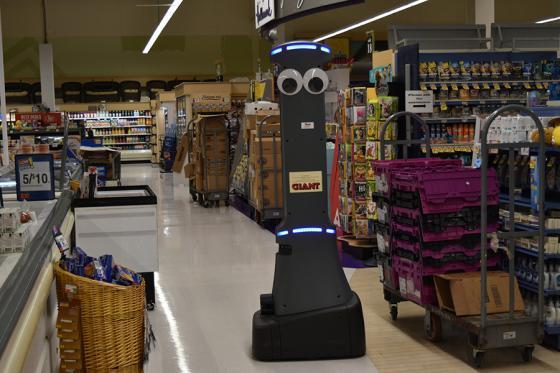 Giant Martin's Stop & Shop Badget Technologies autonomous robots
