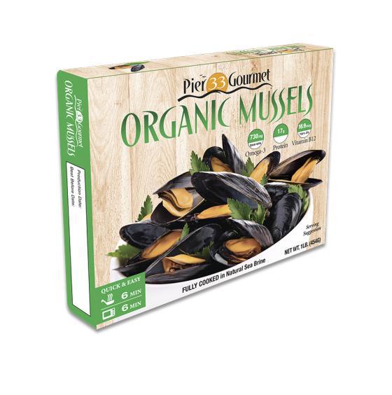 Pier 33 Gourmet Organic Mussels