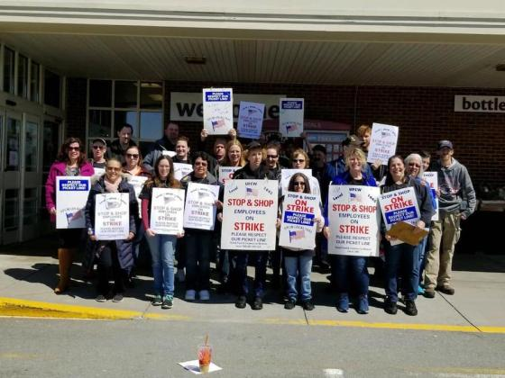 Stop & Shop Workers Go on Strike in New England