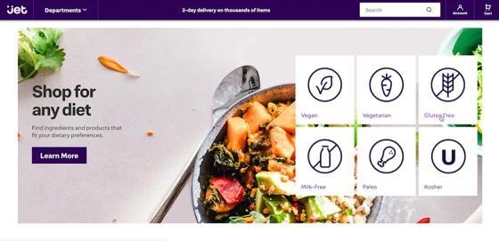 Jet.com to Feature Dietary Information Tags