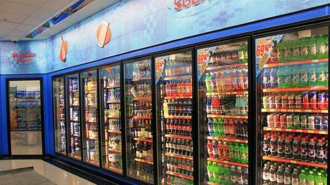 Store beverage cooler