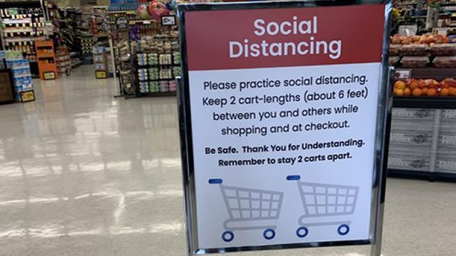 Albertsons Adds Social Distancing Measures