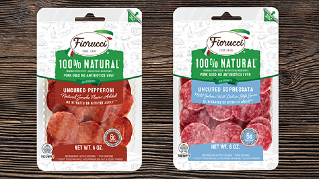 Fiorucci Uncured Pepperoni and Sopressata Slices