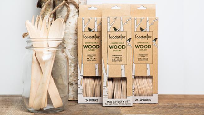 FOODSTIKSDisposable Wood Cutlery