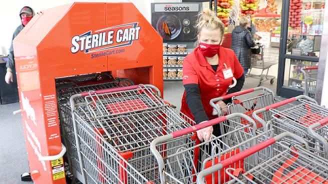 shopping cart sanitizer