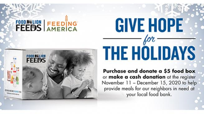 Food Lion Providing Meals to Pandemic-Affected Families Holidays Without Hunger Feeding America