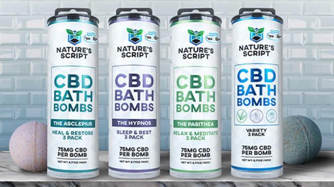 Nature's Script CBD Bath Bombs