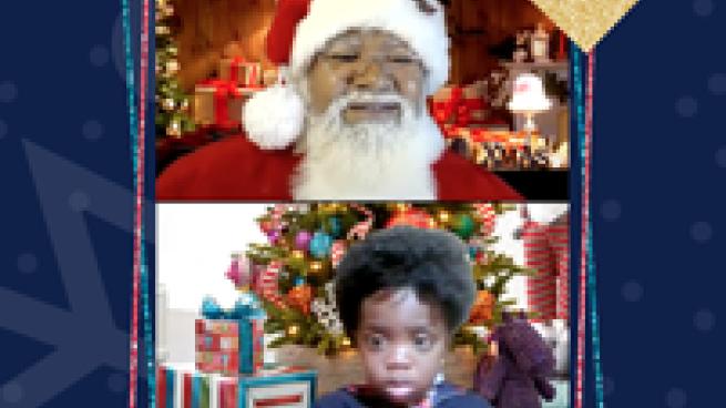 Santa Visits Sam's Club Members Via Zoom