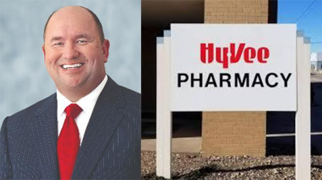 Hy-Vee CEO Randy Edeker Receives Pharmacy Award 2021 Legislative Champion Award Iowa Pharmacy Association