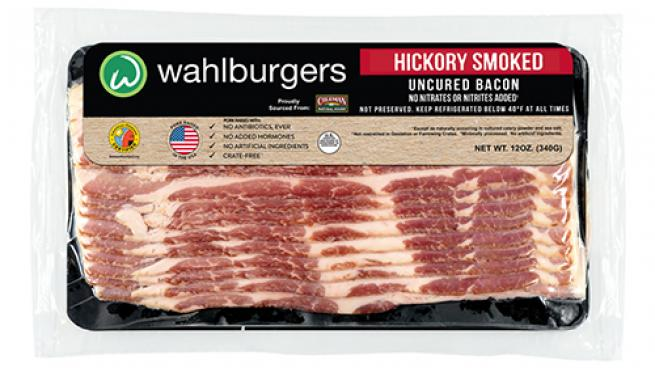 All-Natural, Uncured Hickory Smoked Bacon from Wahlburgers