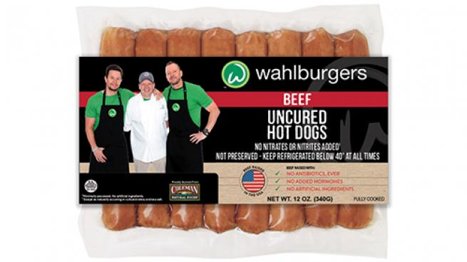 All-Natural, Uncured Beef Hot Dogs from Wahlburgers