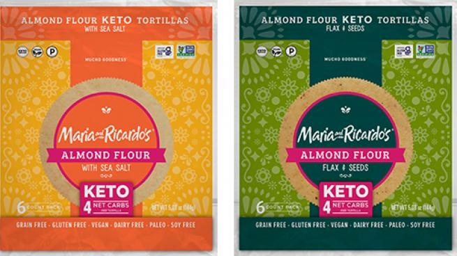 Maria and Ricardo's Almond Flour Keto Tortillas
