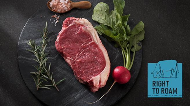NEW Right to Roam grass fed, natural beef from JBS