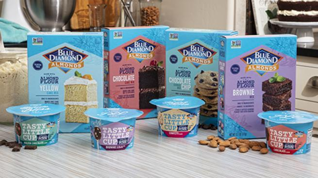 Blue Diamond Almond Flour Baking Mixes and Tasty Little Cup