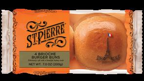 St Pierre Brioche Burger Buns