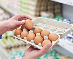 Eggs in Supermarket as Breakfast Potential
