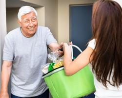 Older Person Getting Groceries