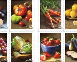 Produce Takes Its Place on New U.S. Stamps
