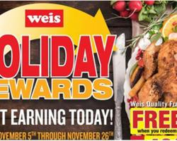 Weis Rolls Out Holiday Rewards Program
