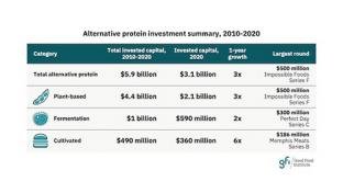 Alt Proteins Saw Record $3.1B Investment in 2020 Good Food Institute Plant-Based Foods
