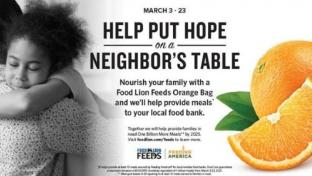 Food Lion Orange Campaign to Fight Hunger