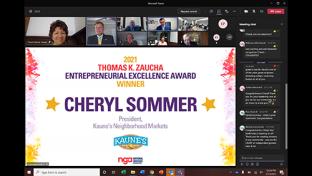 NGA Thomas K. Zaucha Entrepreneurial Excellence Award Goes to Cheryl Sommer