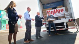 Hy-Vee Helps Donate More Than 40,000 Lbs. of Protein to Food Bank