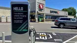 Safeway Installs Another Electric Vehicle Charging Station