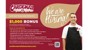 Cardenas Markets Offers $1K Sign-On Bonus